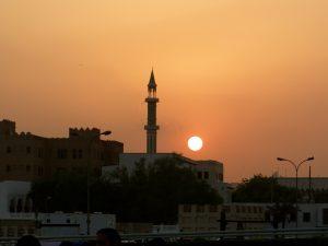 doha moskee zonsondergang