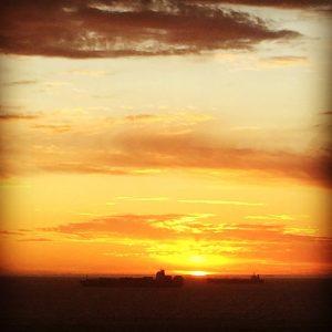 zonsondergan Kaapstad